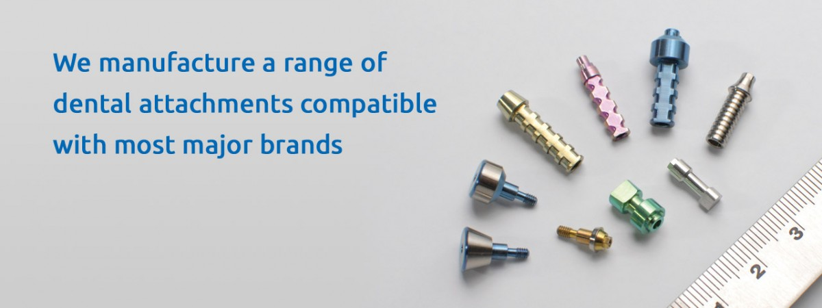 Dental Attachments Compatible with Major Brands
